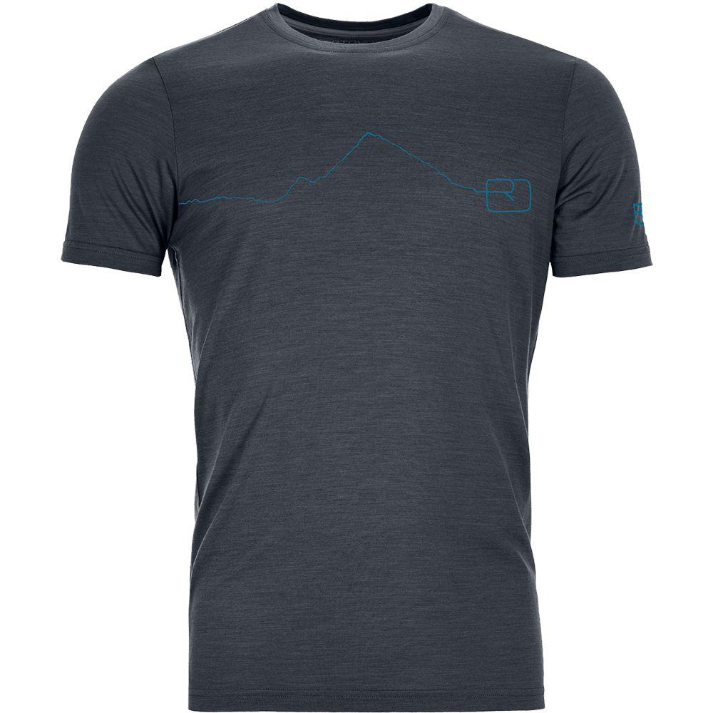 Ortovox 120 Tec Mountain T Shirt Herren Black Steel Kaufen Im