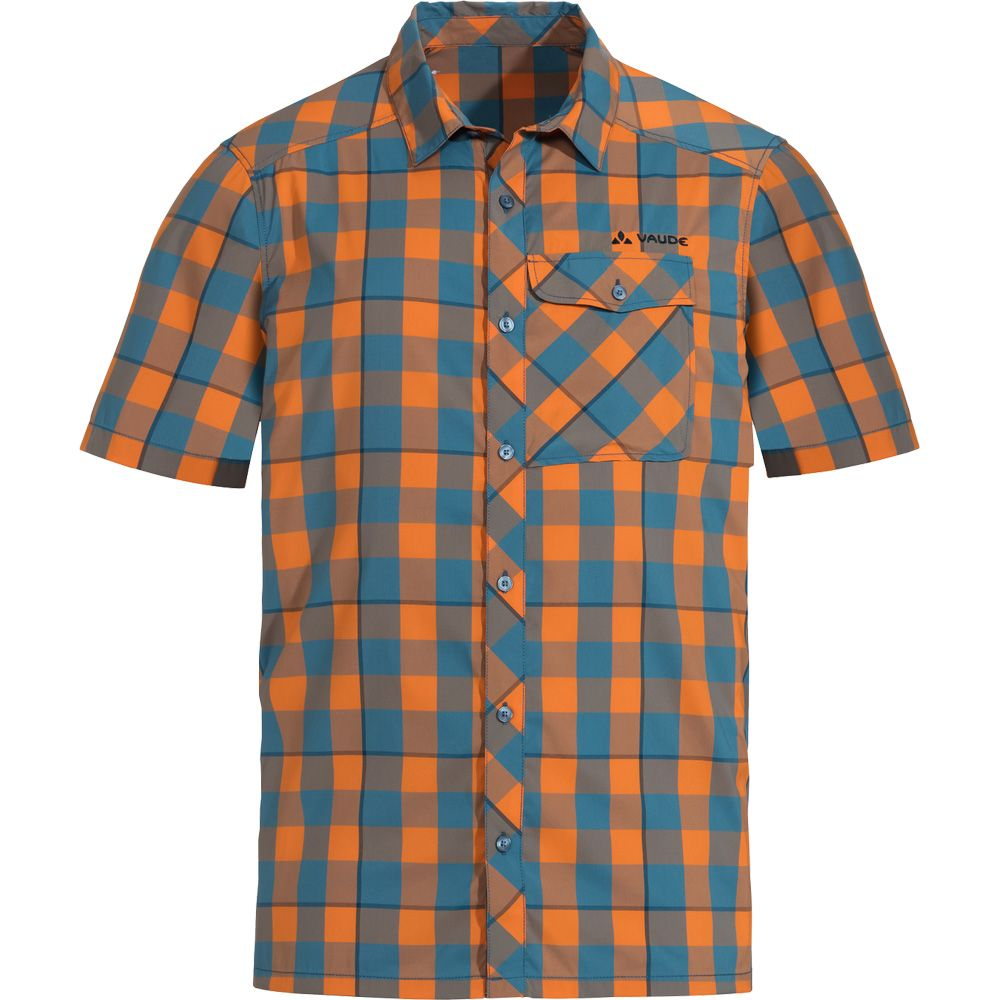 new arrivals 483d1 96be6 VAUDE - Men's Prags Shirt II Hemd Kurzarm Herren orange madder