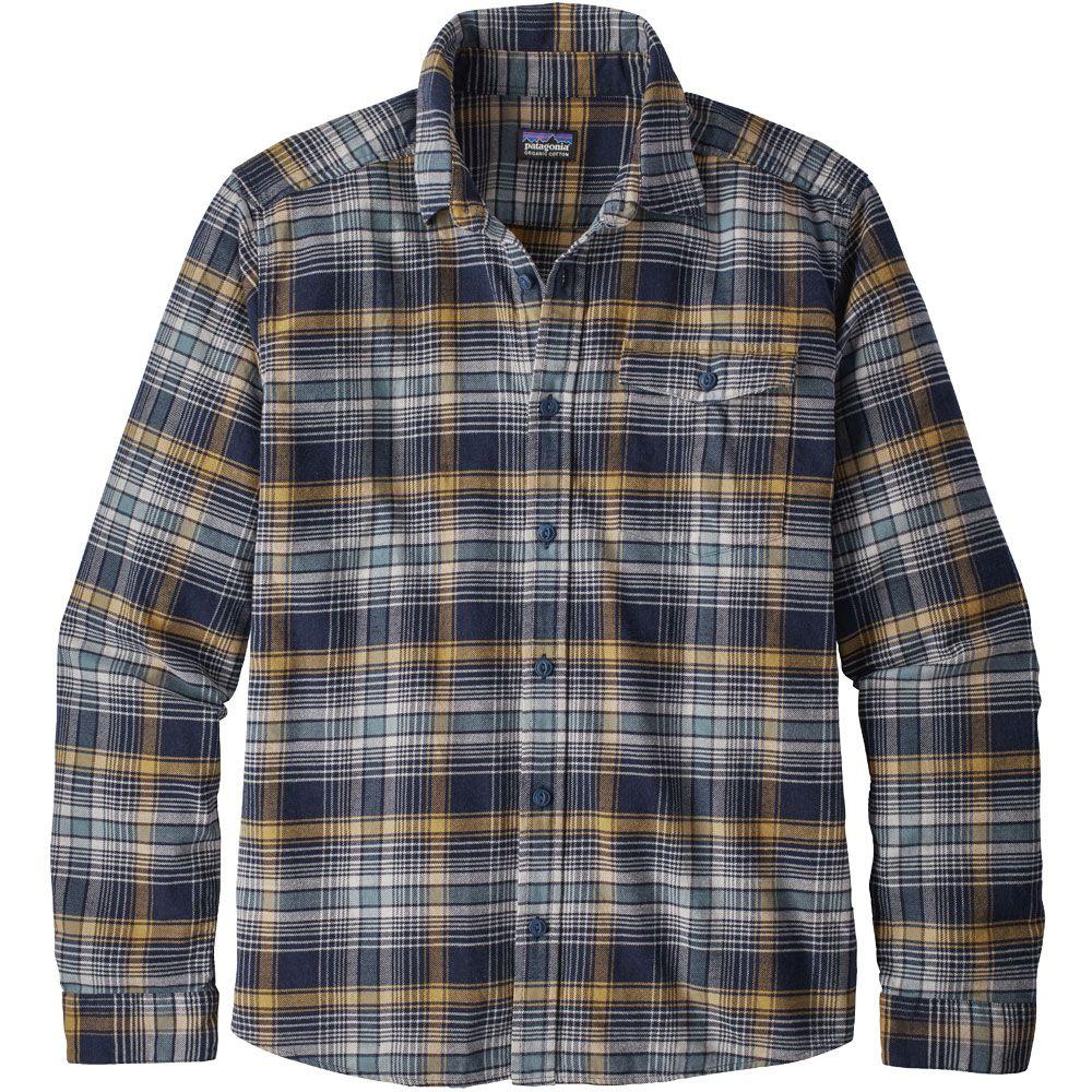 Patagonia Fjord Lightweight Flannel Shirt Men Rozman Navy Blue At