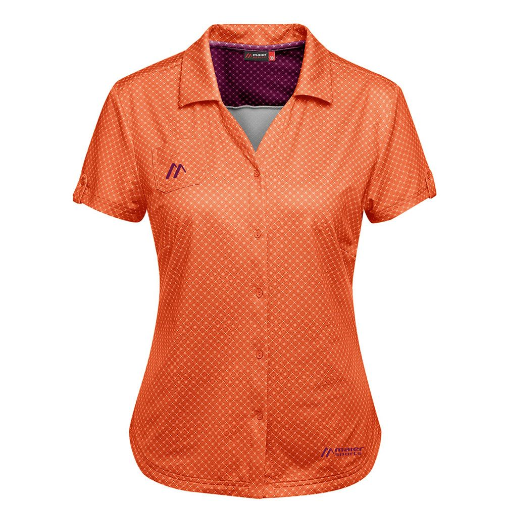 maier sports lleyn bluse damen orange allover kaufen im sport bittl shop. Black Bedroom Furniture Sets. Home Design Ideas