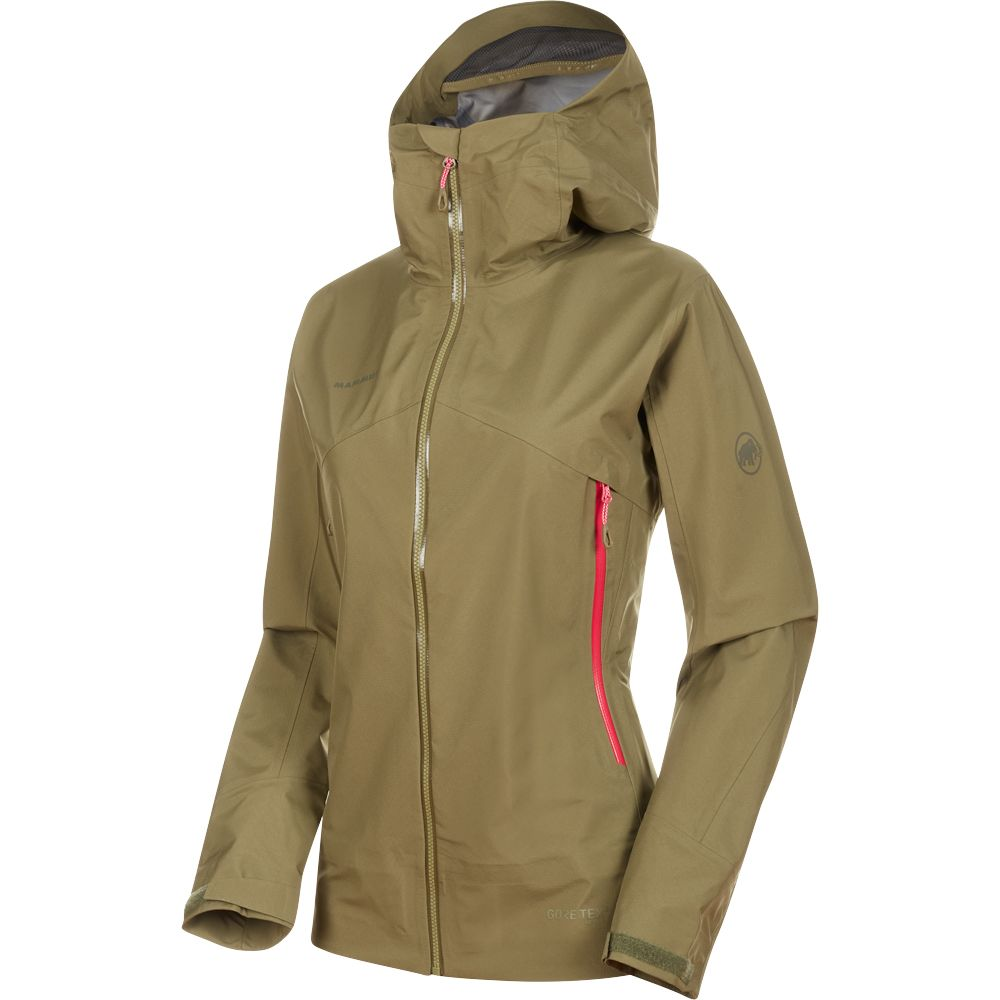 93bf170d Mammut - Meron Light Hardshell Jacket Women olive pink at Sport ...