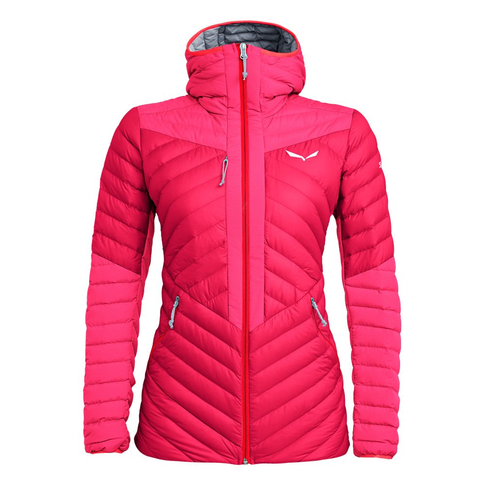 SALEWA Ortles Light 2 Down Hooded Jacket Women rose red
