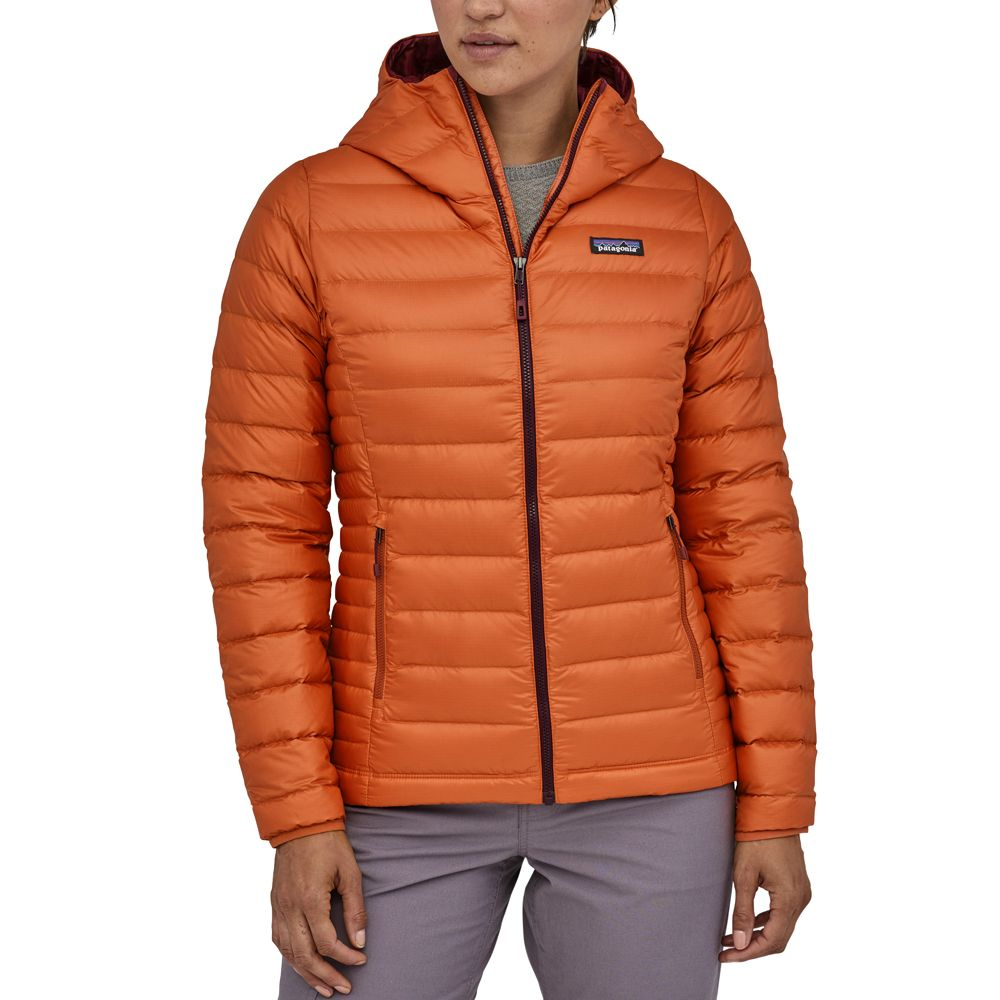 Patagonia Down Sweater Hoody Down Jacket Women sunset