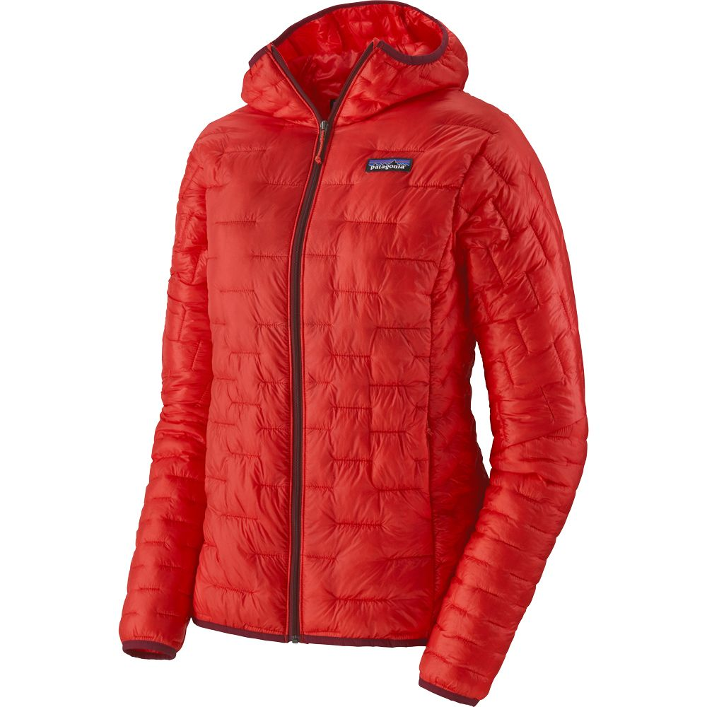 Micro Puff Hoody Insulating Jacket Women catalan coral