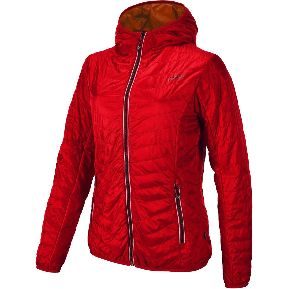 CMP - Fix Hood Primaloftjacke Women campari at Sport Bittl Shop ea91cd485e