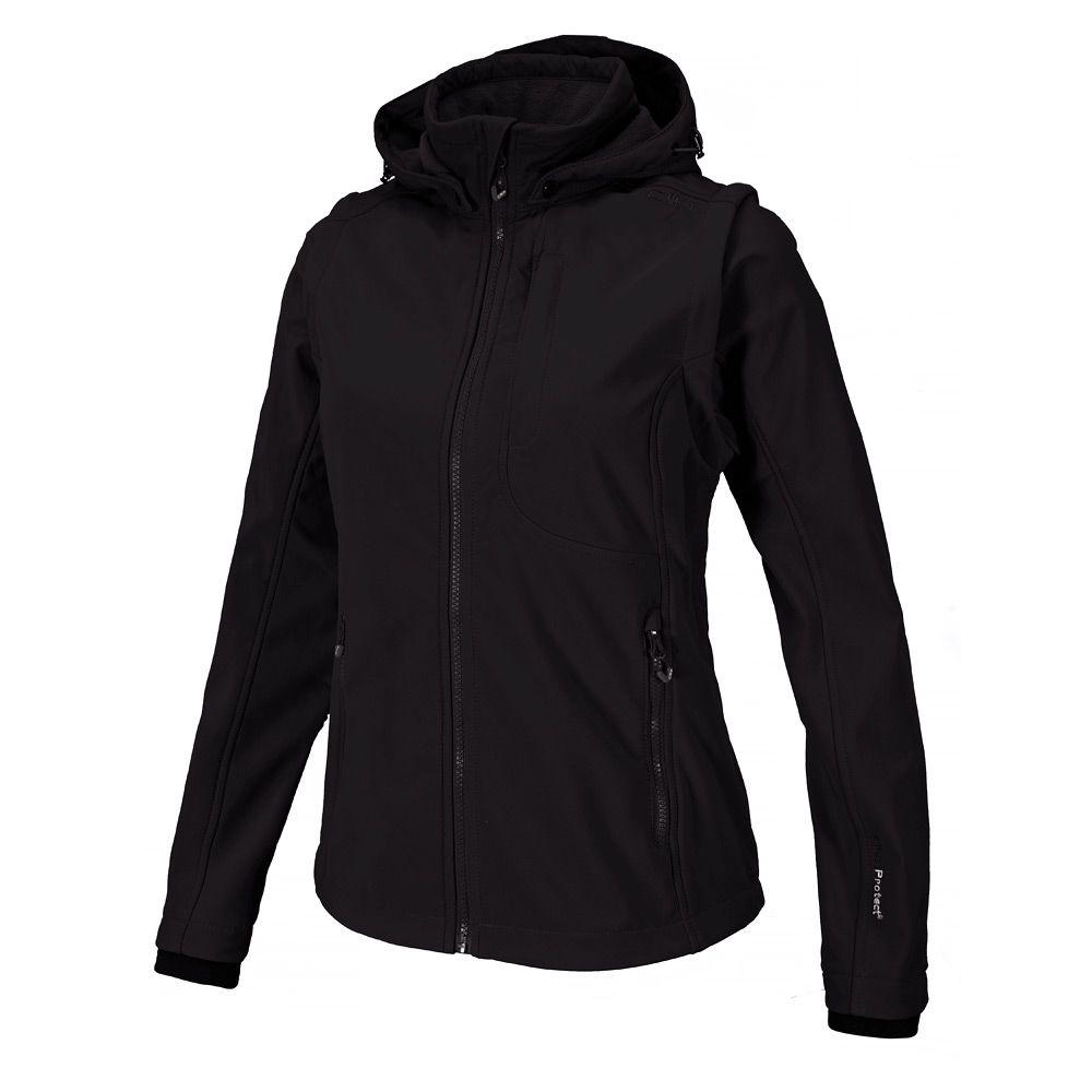 Softshelljacke Zip Off Damen black grey