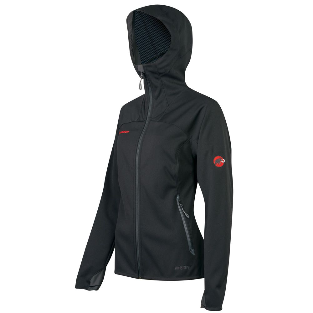 Ultimate Windstopper Hoody Damen black