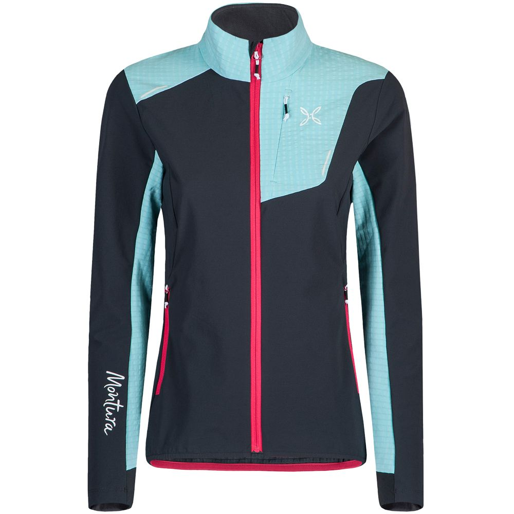 Montura Ski Style Softshell Jacket Women piombo ice blue