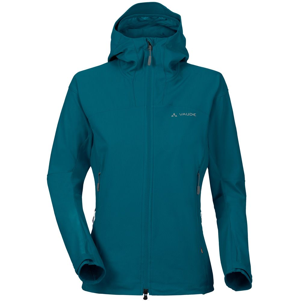 info for 1be2a 3e260 VAUDE - Roccia Hooded Jacket Softshell Women dragonfly blue ...