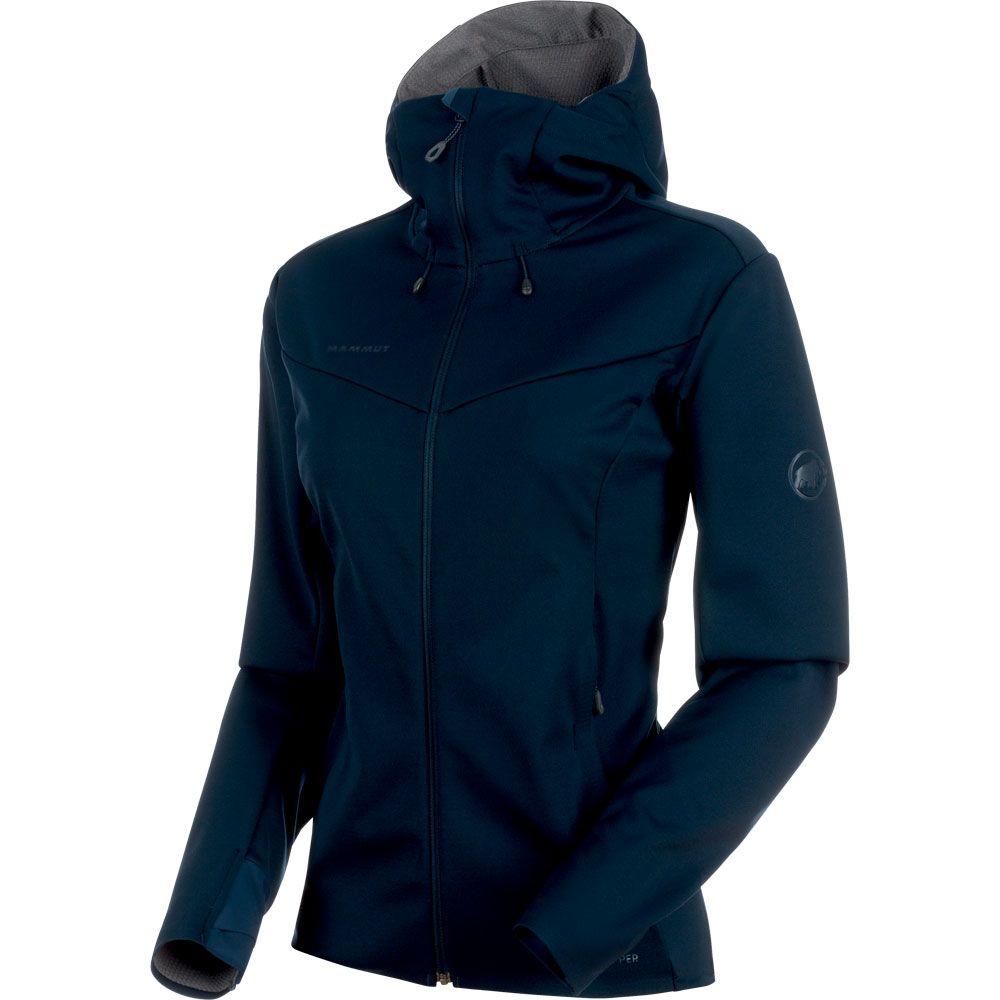 reputable site 89948 37000 Mammut - Ultimate V Softshell Jacket Women marine titanium melange