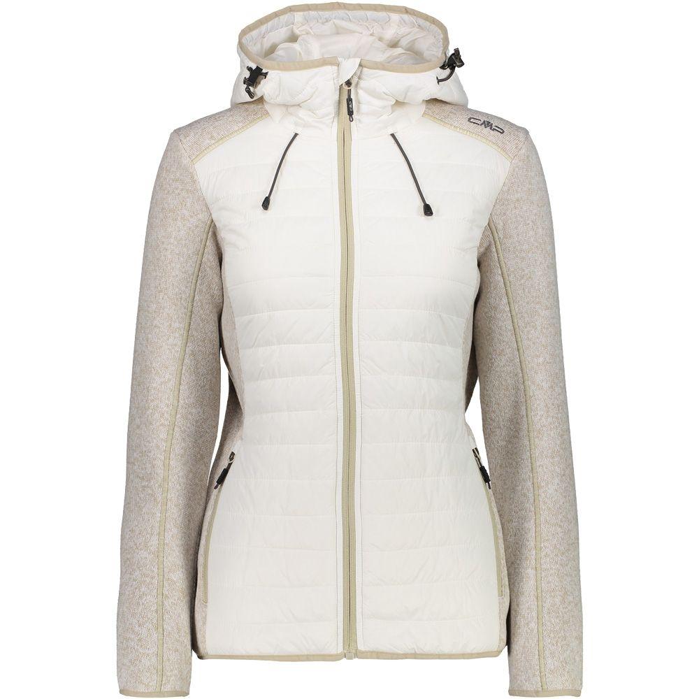CMP - Hybrid Fleece Jacket Women gesso at Sport Bittl Shop 3f465d2b24