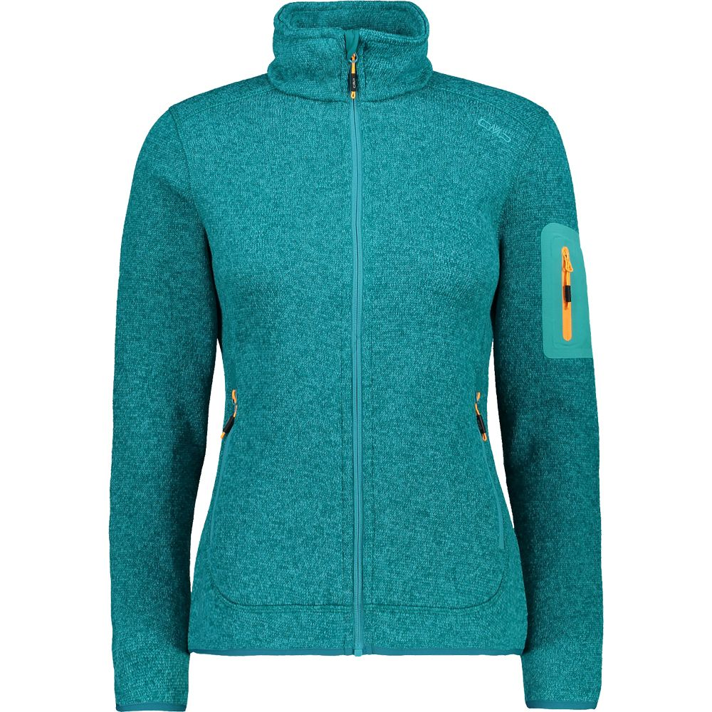 CMP Knitted Fleece Jacket Women turquoise
