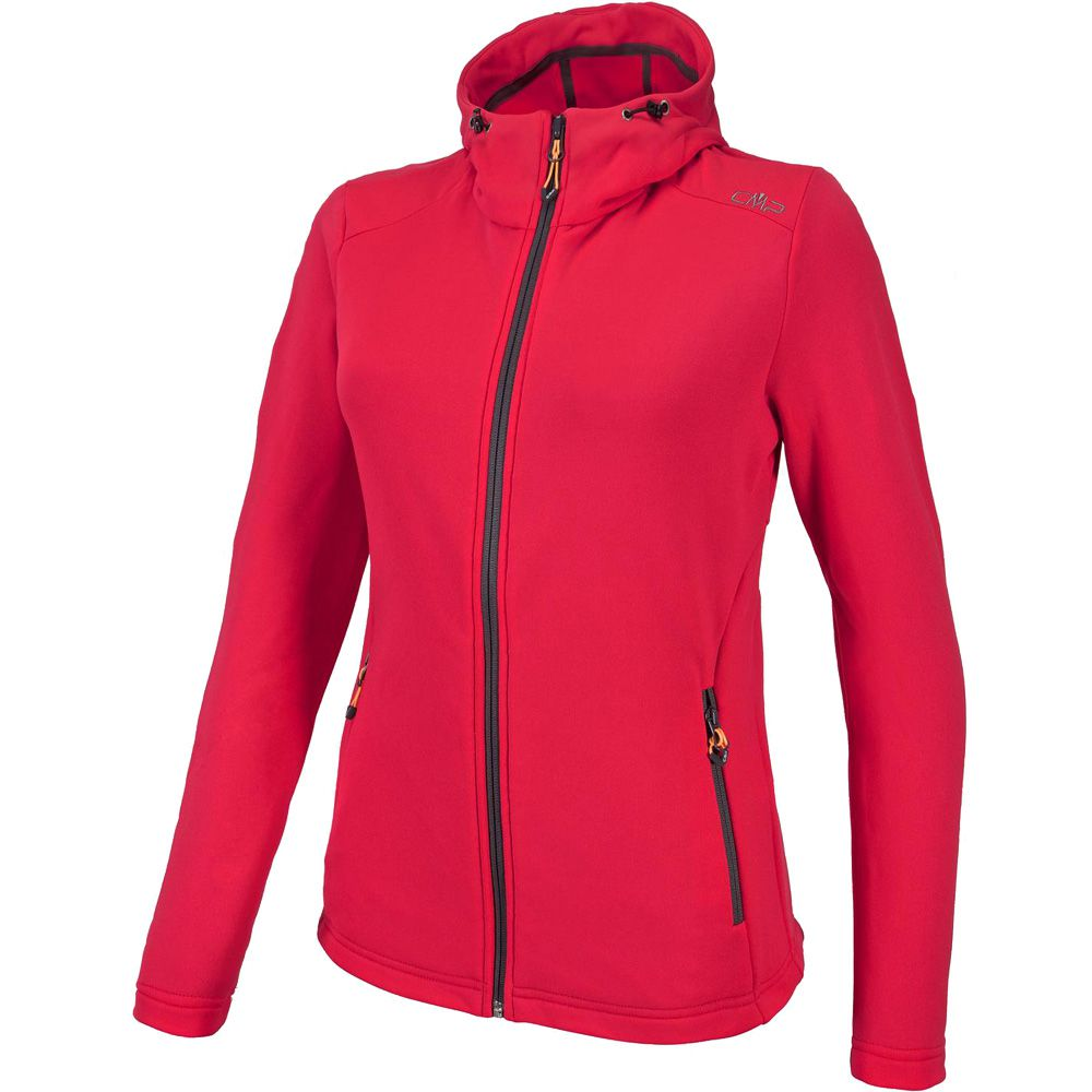 CMP - Fix Hood Fleecejacket Women campari at Sport Bittl Shop b4fb164dca