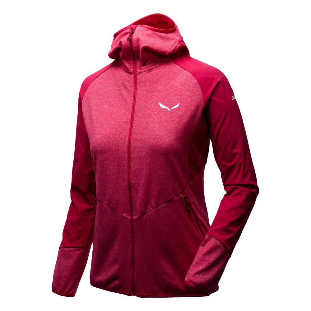 SALEWA Agner Cordura 2 PL Hooded Jacket Women rose red