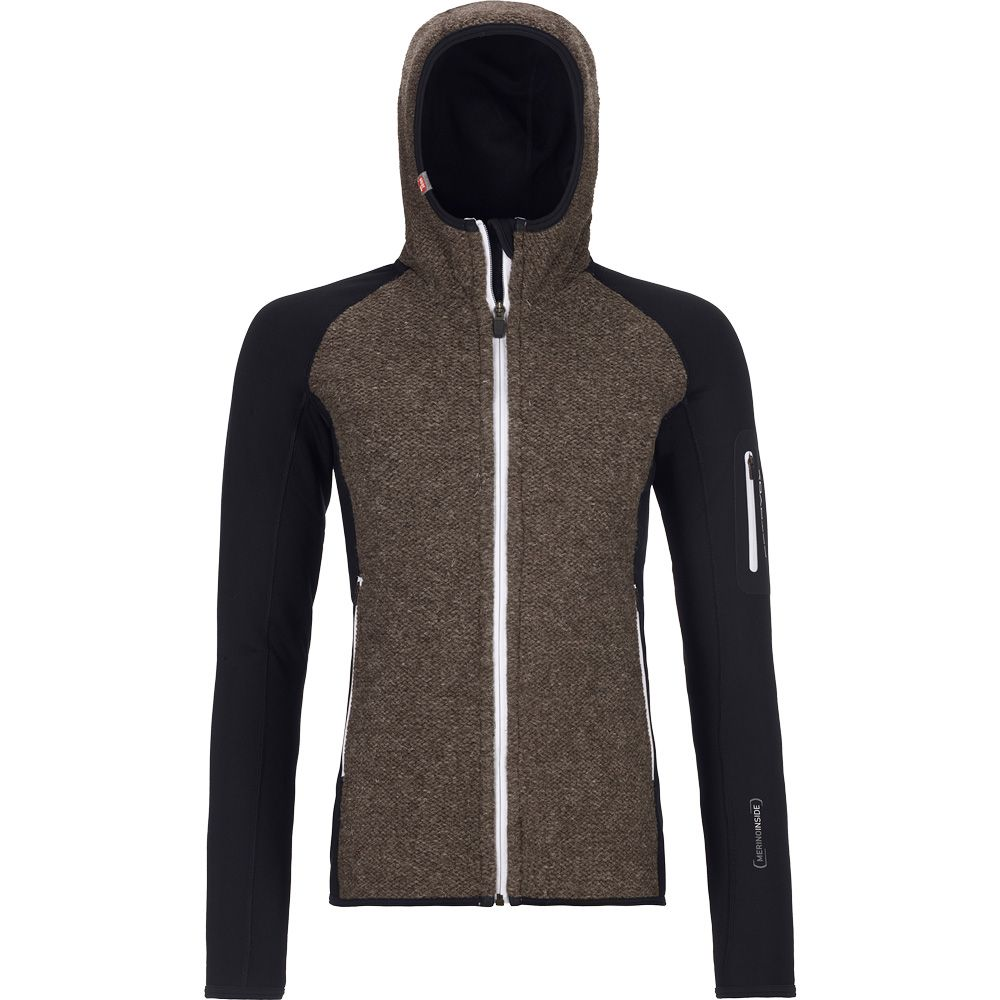 Fleece Plus Classic Knit Hoody Damen black raven