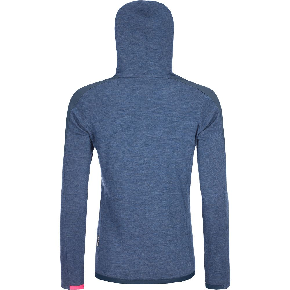 Merinoterry Hoody Damen blue lake blend