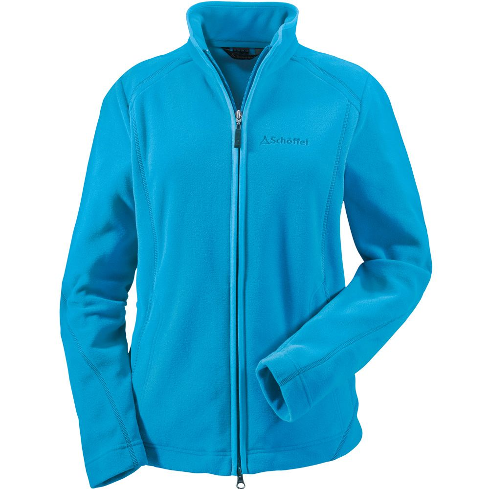 sch ffel leona fleecejacke damen blau kaufen im sport bittl shop. Black Bedroom Furniture Sets. Home Design Ideas