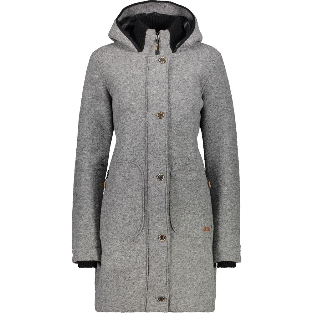 CMP - Fix Hood Coat Women grigio mel at Sport Bittl Shop bad7268995