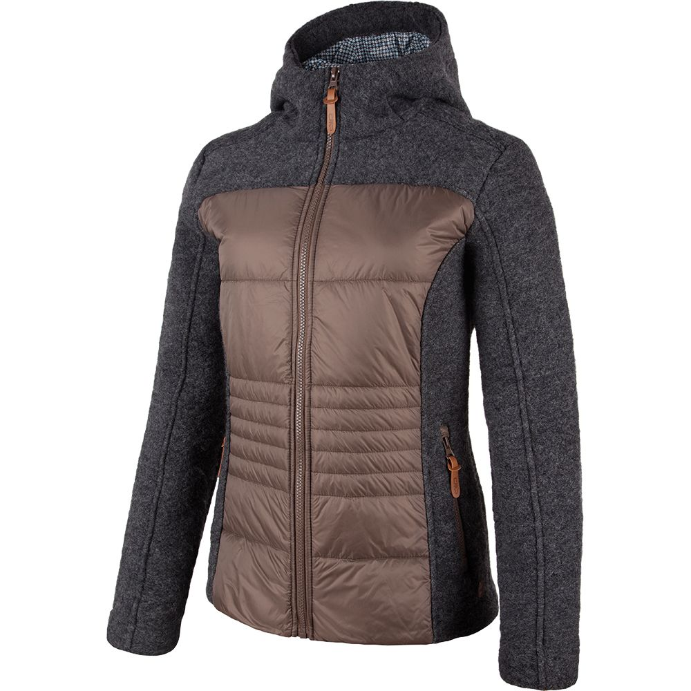 CMP - Hybrid Fix Hood Jacket Women carbone at Sport Bittl Shop 44661c6e54