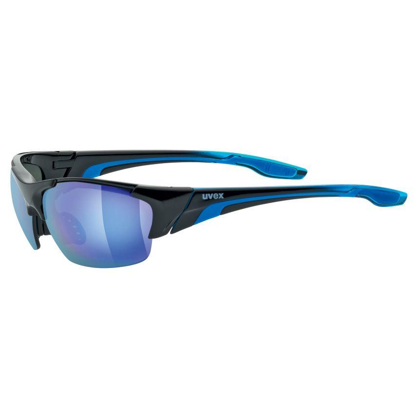 Uvex Blaze 3 Sportbrille Schwarz/Blau Z9Xjw