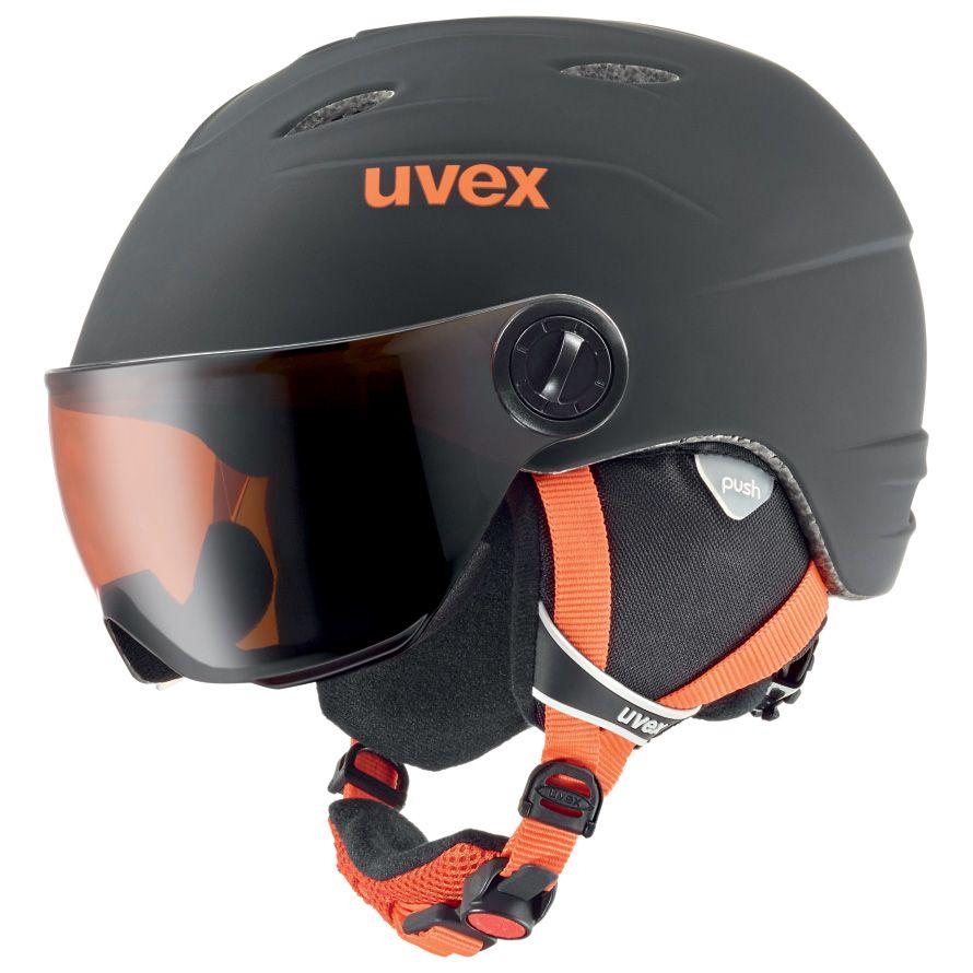 uvex junior visor pro schwarz orange matt kaufen im sport bittl shop. Black Bedroom Furniture Sets. Home Design Ideas