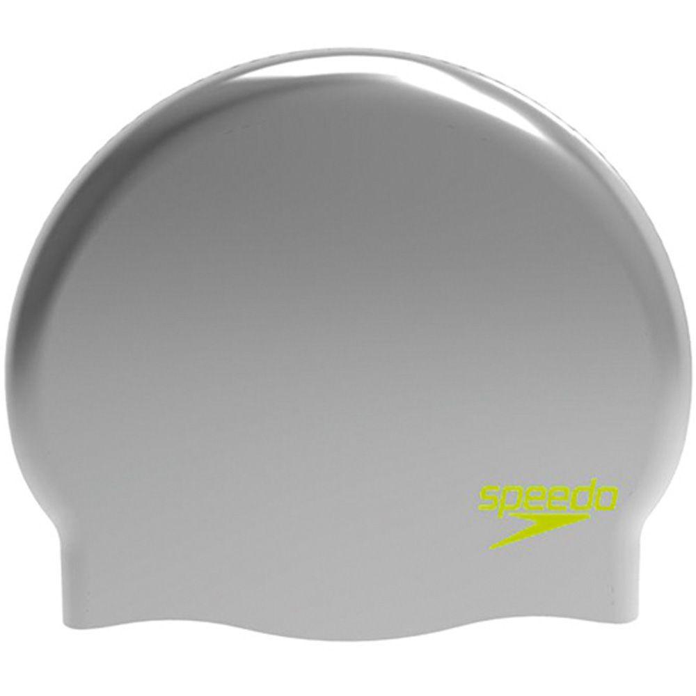 8ae623f351c Speedo - Plain Molded Silikon Bathing Cap Kids silver lime at Sport ...