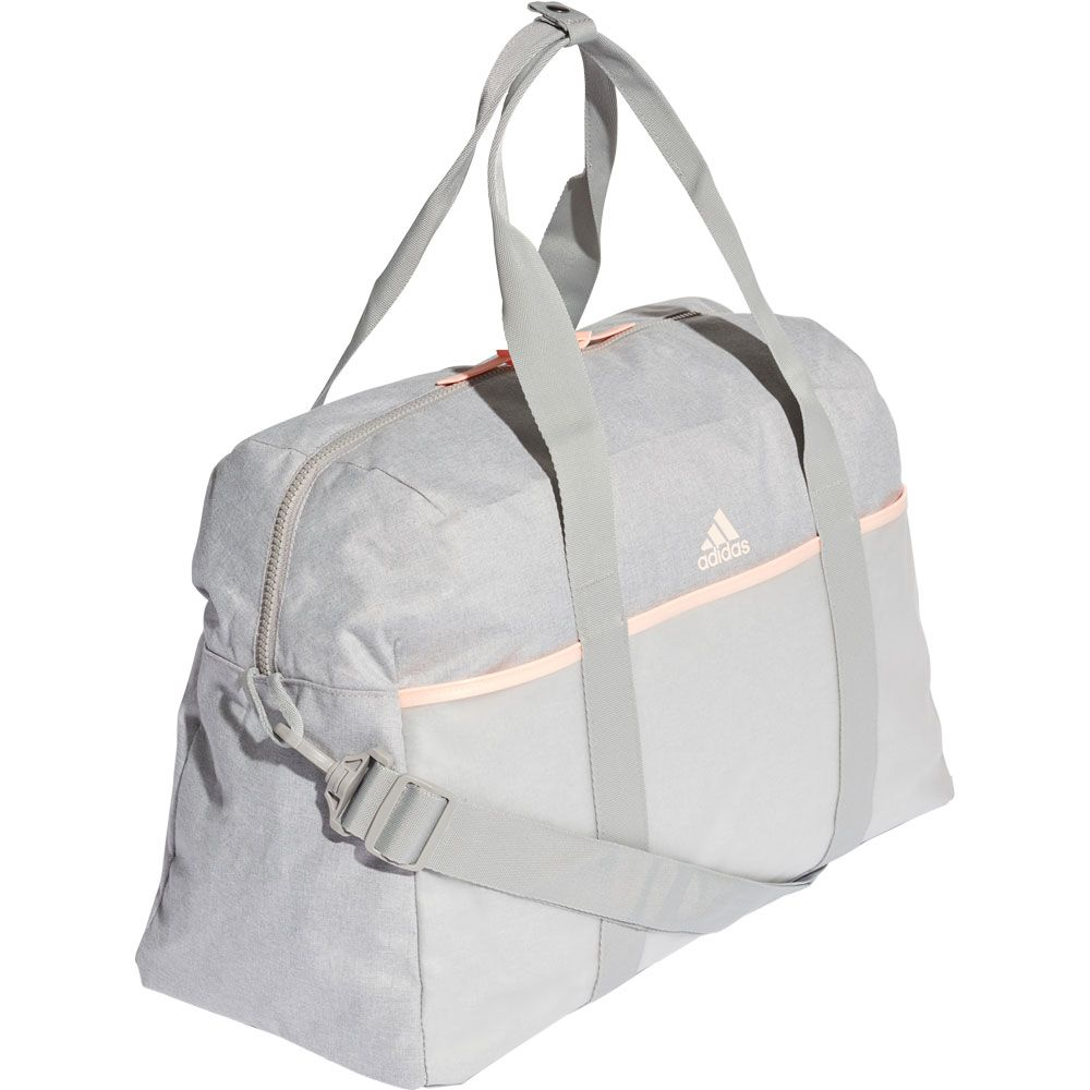 adidas - ID Sporttasche Damen medium grey heather clear orange grey ...