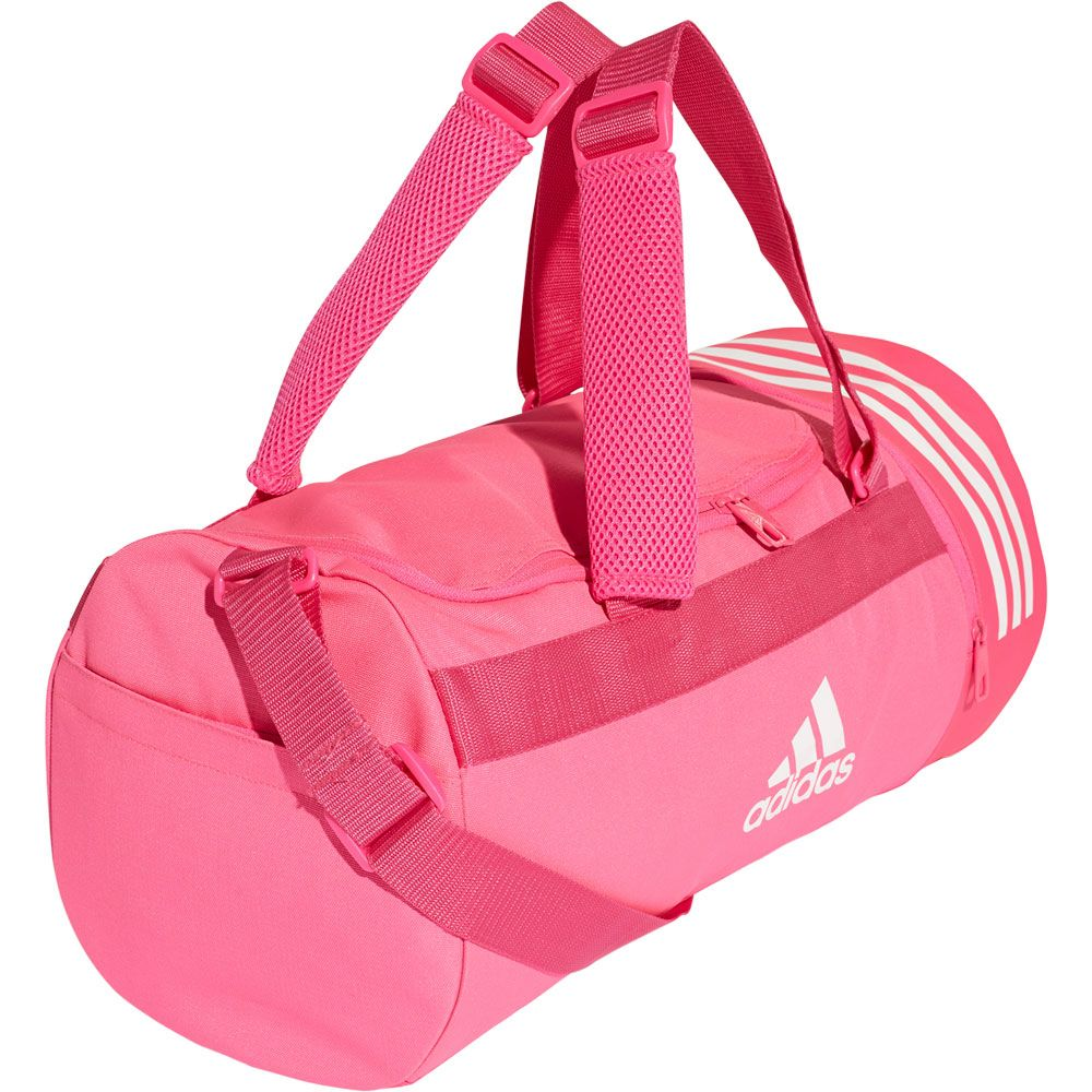 cd27a2622b9 adidas - Convertible 3-Stripes Duffel Bag S shock pink white at ...