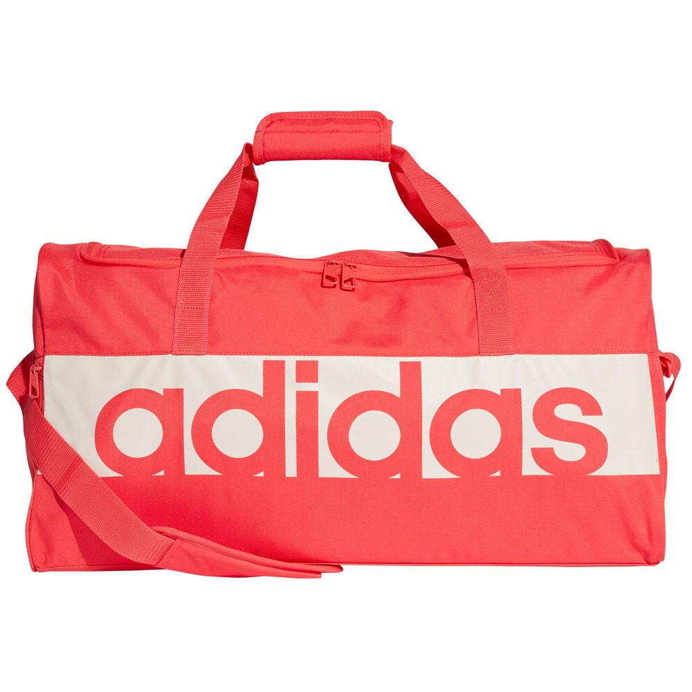 3d6d2646e1 adidas - Linear Performance Duffel Bag Medium real coral chalk pearl ...