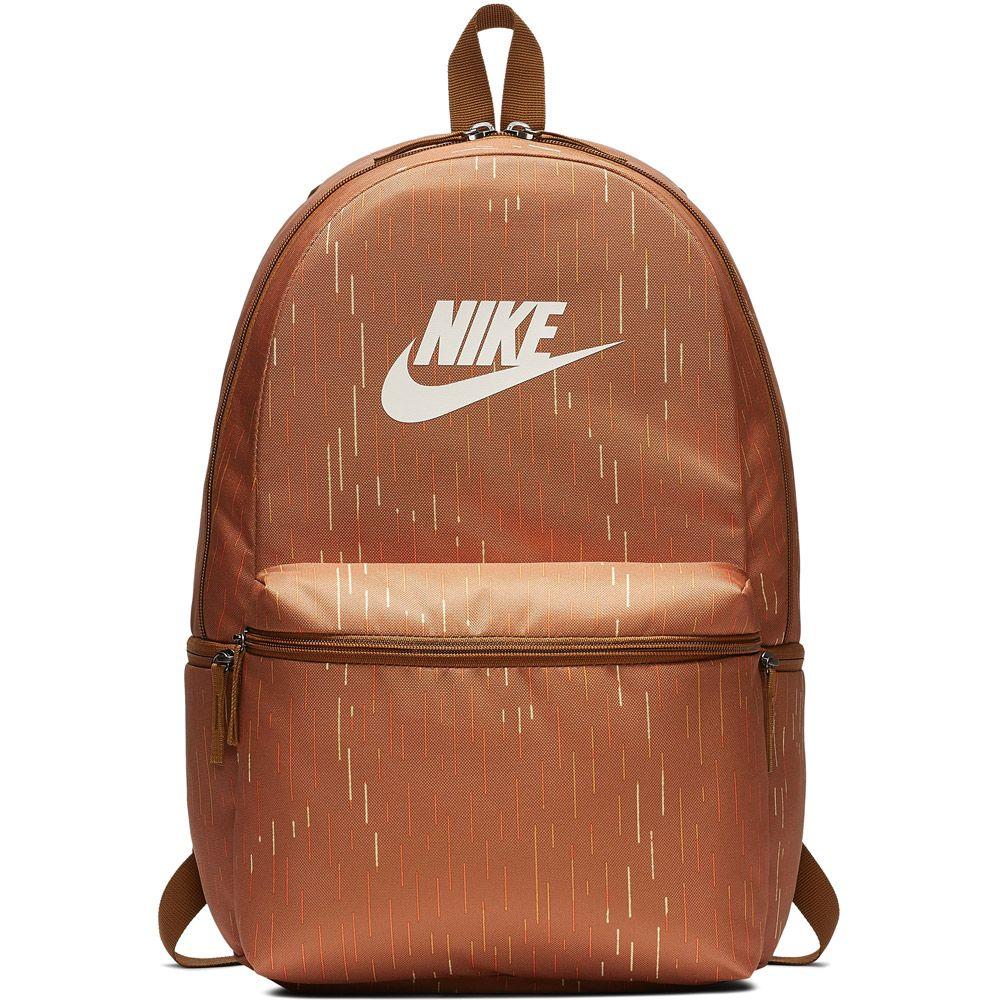 Nike Sportswear Heritage Printed Rucksack ale brown pale ivory