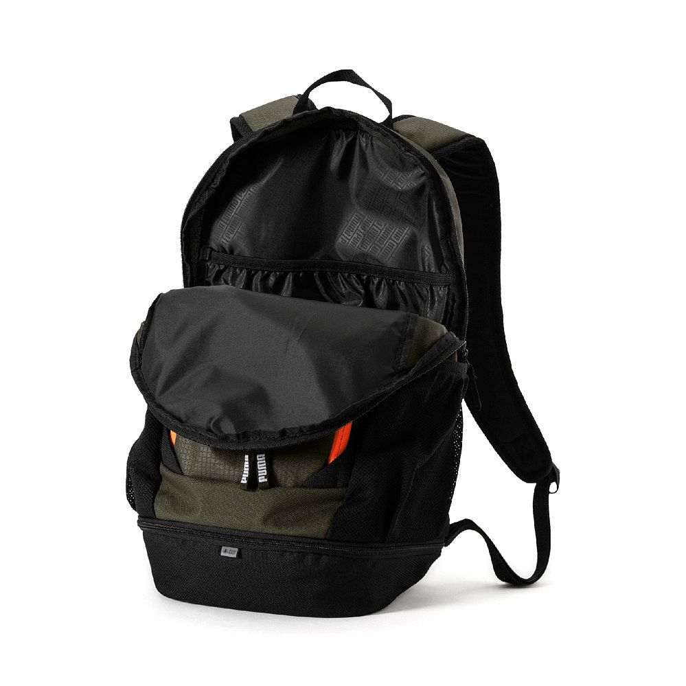 0bf6aa56db07 Puma - Vibe Backpack forest night at Sport Bittl Shop