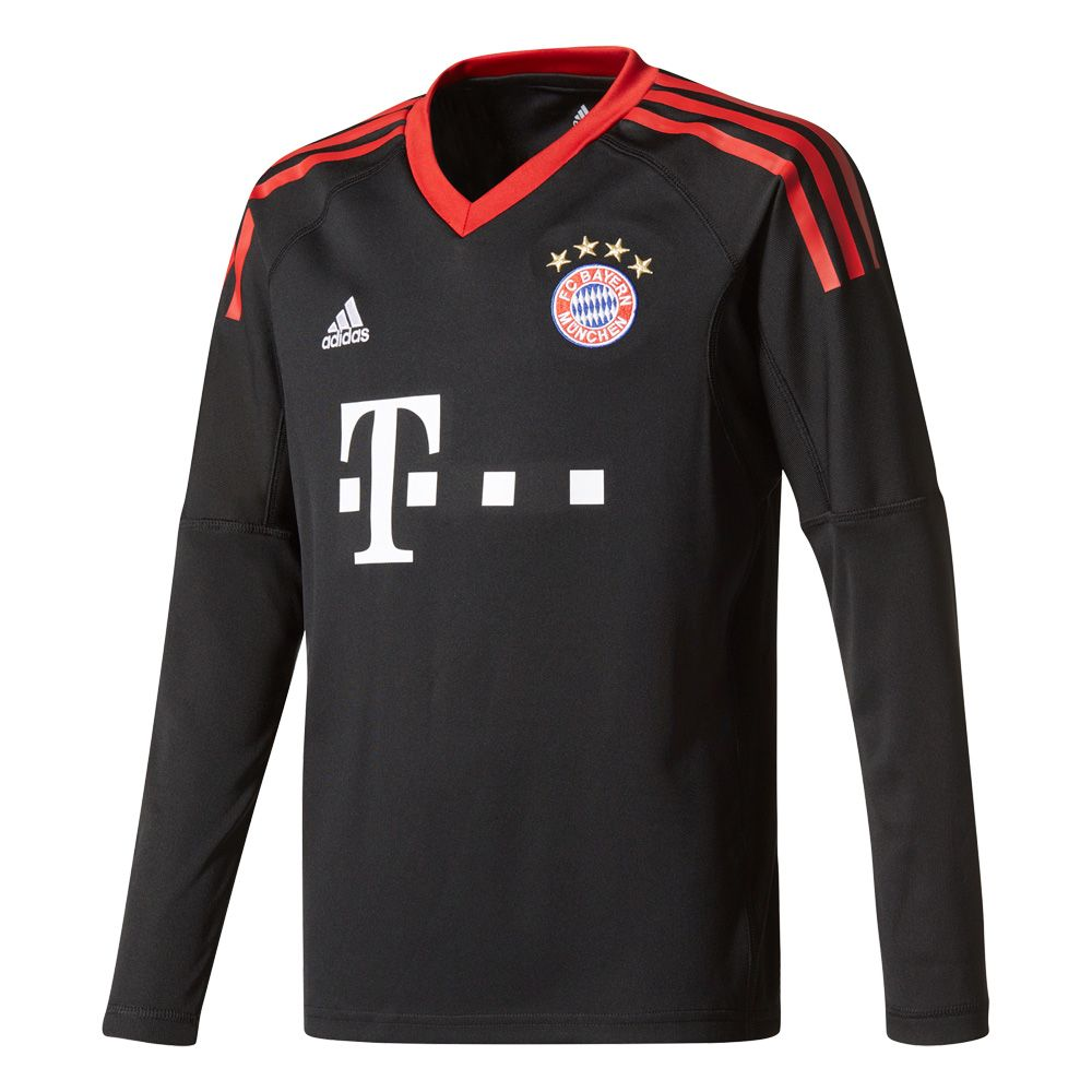 adidas fc bayern home torwart trikot 17 18 kinder schwarz kaufen im sport bittl shop. Black Bedroom Furniture Sets. Home Design Ideas