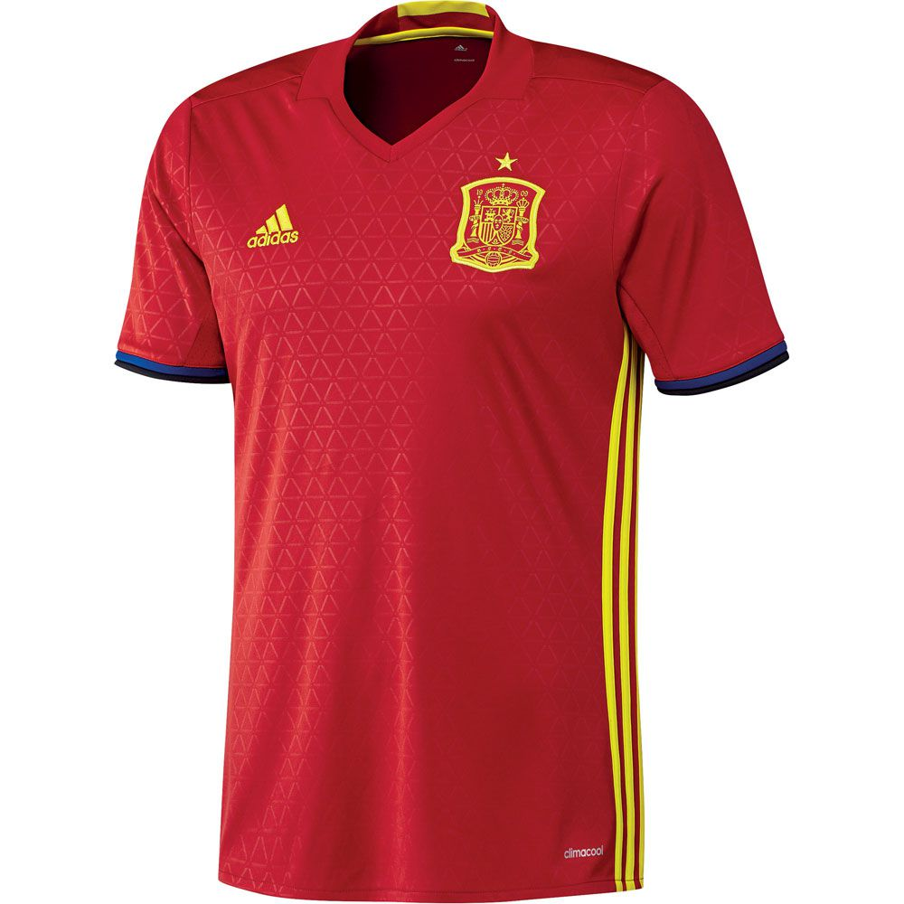 adidas - FEF Spain Home Jersey Kids EM 2016 scarlet bright yellow at ... feb74c56e