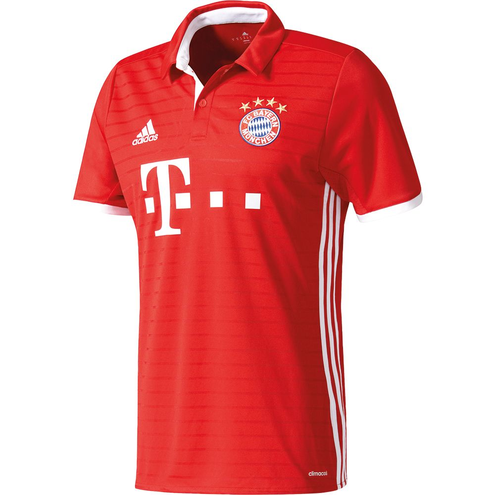 adidas fc bayern home trikot 16 17 herren fcb true red. Black Bedroom Furniture Sets. Home Design Ideas
