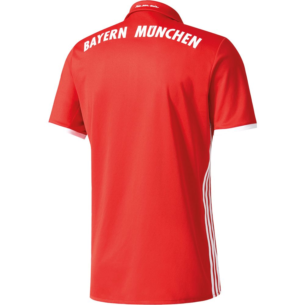 adidas fc bayern home trikot 16 17 men fcb true red. Black Bedroom Furniture Sets. Home Design Ideas
