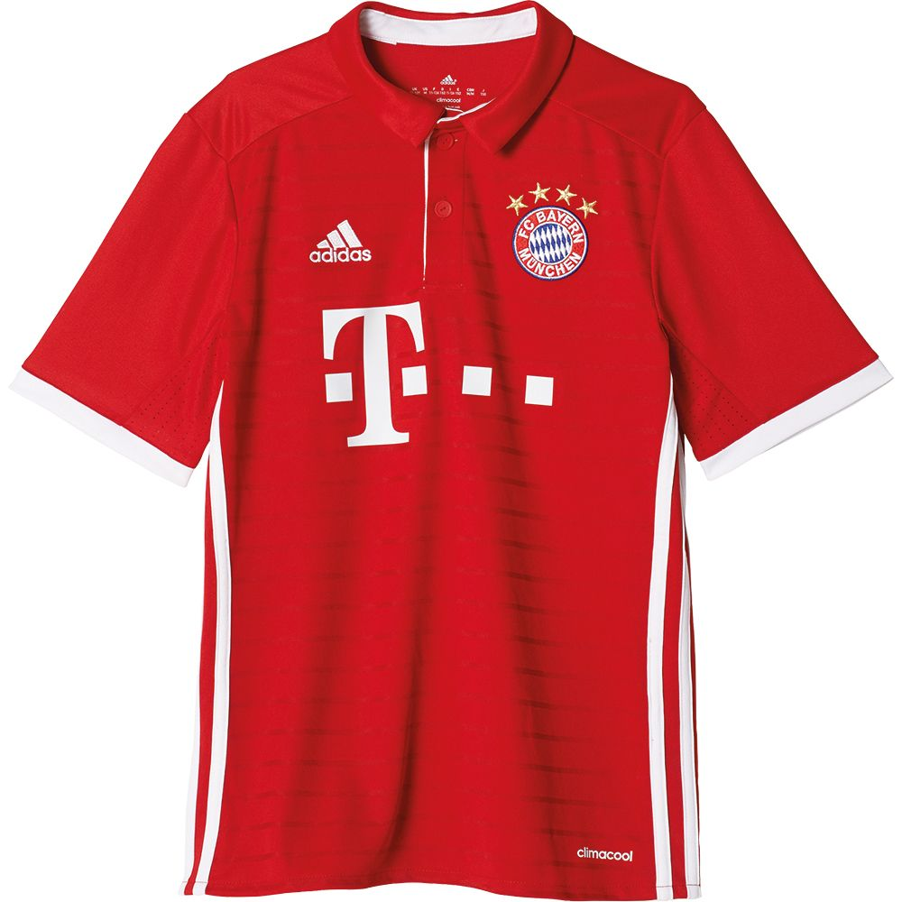 adidas fc bayern home trikot 16 17 kinder fcb true red. Black Bedroom Furniture Sets. Home Design Ideas