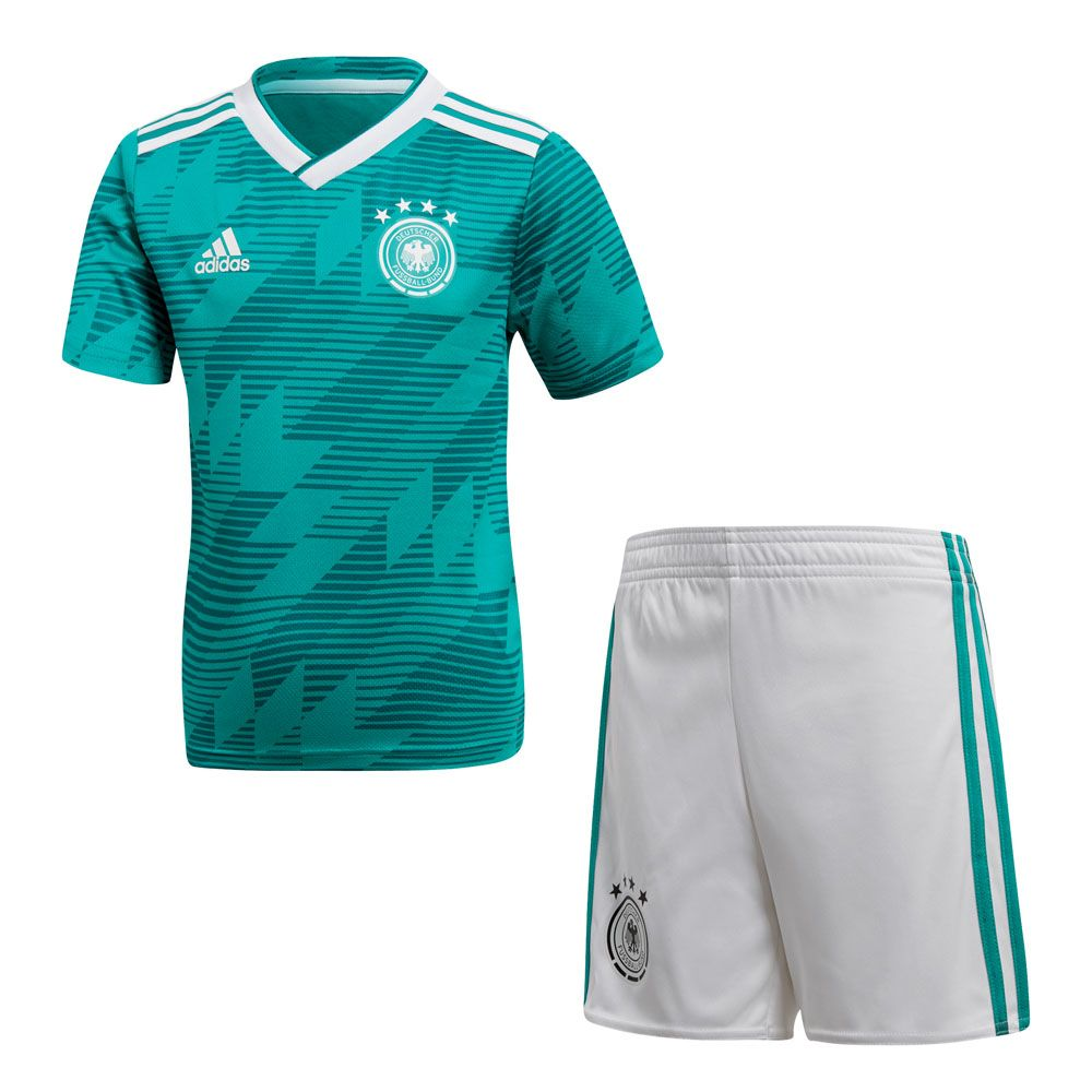 adidas DFB Away Mini Kit WM 2018 Kinder eqt green white