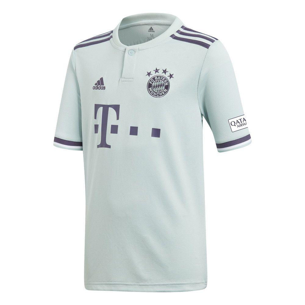 adidas FC Bayern Away Trikot 1819 Kinder ash green trace purple