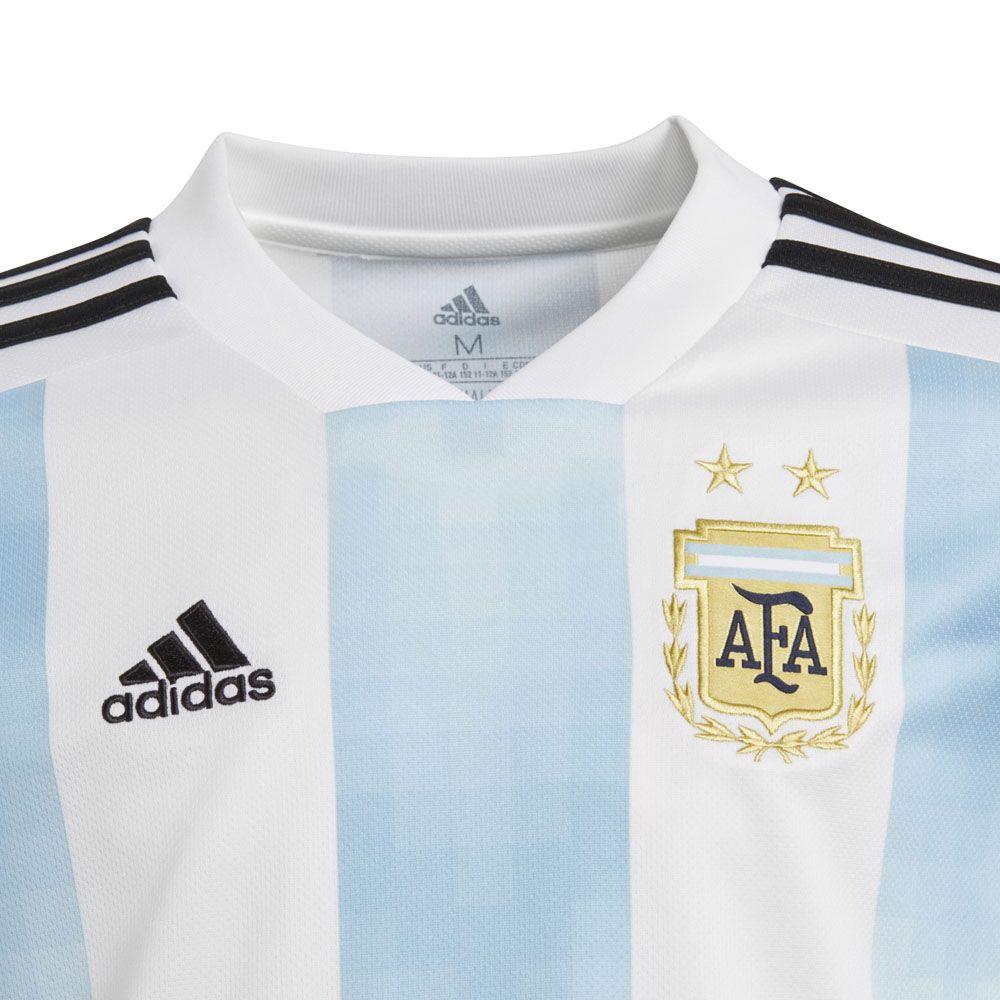 Argentina Home Replica Jersey World Cup 2018 Kids white clear blue black ce18c5421