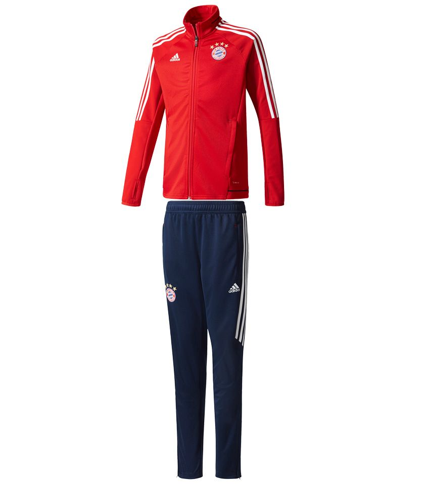 adidas fc bayern trainingsanzug kinder rot kaufen im. Black Bedroom Furniture Sets. Home Design Ideas