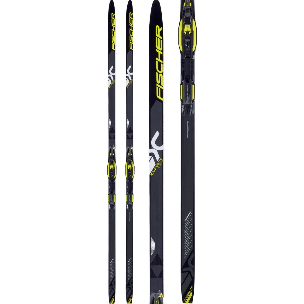 NEW FISCHER XC SUPERLITE CROWN cross country SKIS//BINDINGS PACKAGE Many lengths