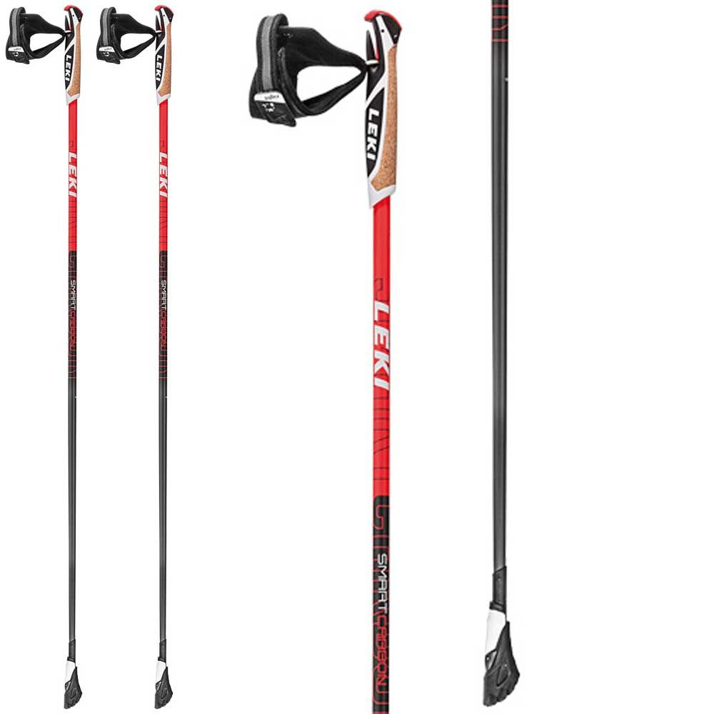 065fc0d8f3b LEKI - Smart Carbon Nordic Walking Pole black red at Sport Bittl Shop
