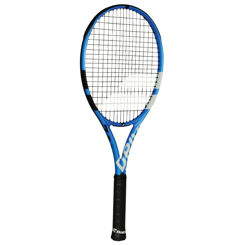 Pure Drive 16/19 racket strung matt blue black