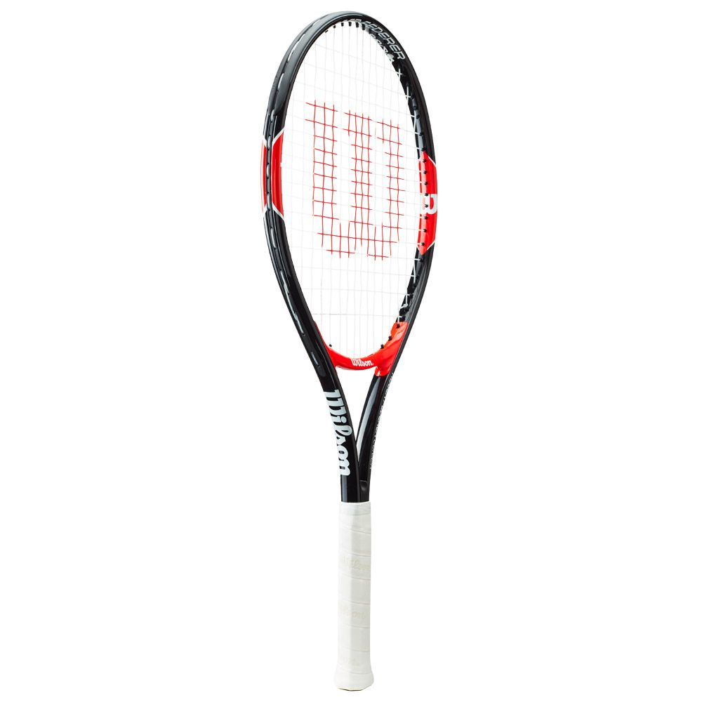 Roger Federer 25 Junior racket strung black red