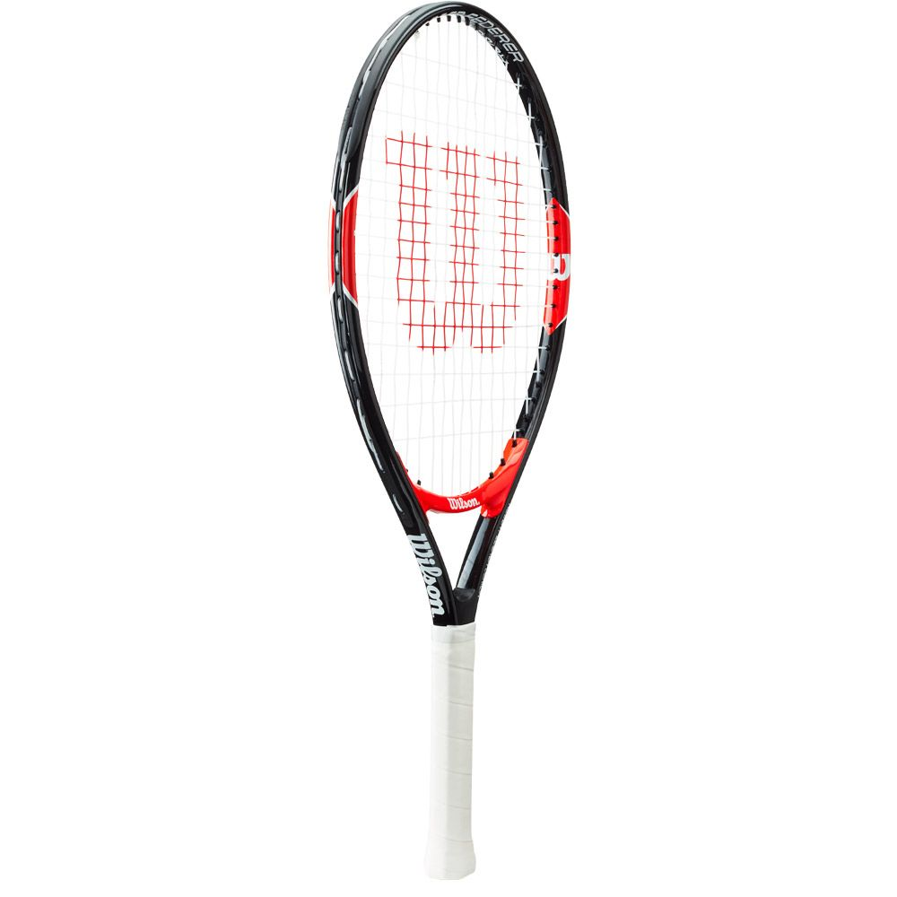 Roger Federer 23 Junior racket strung black red