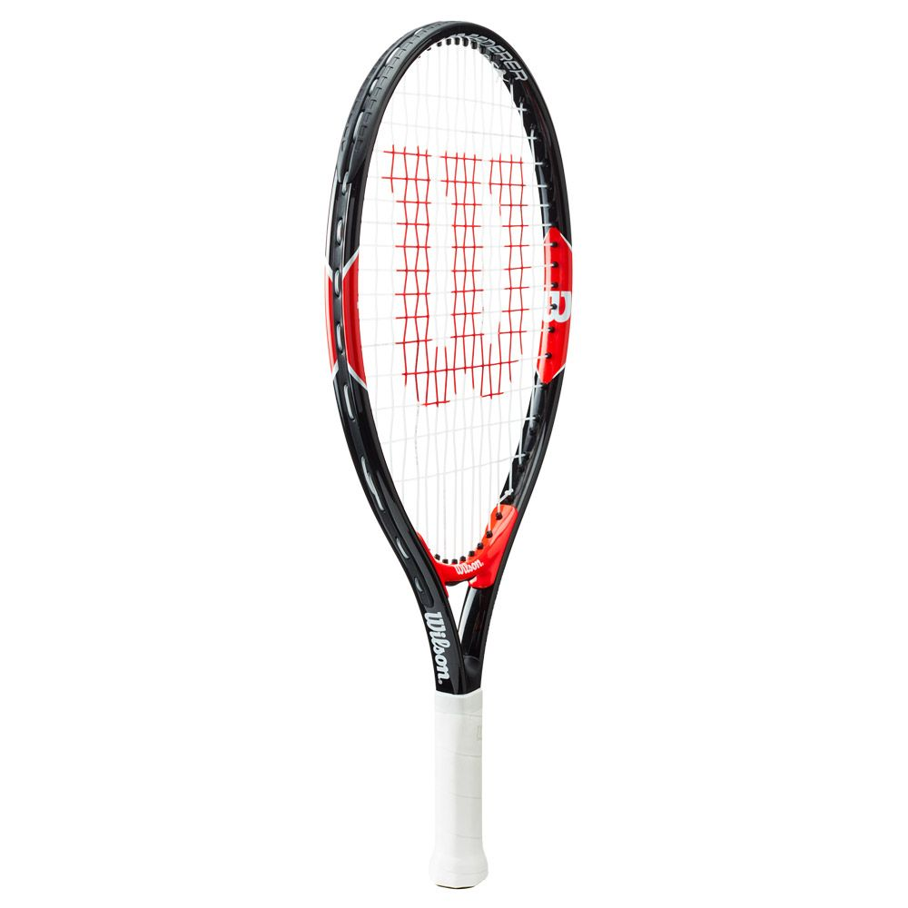 Roger Federer 19 Junior racket strung black red