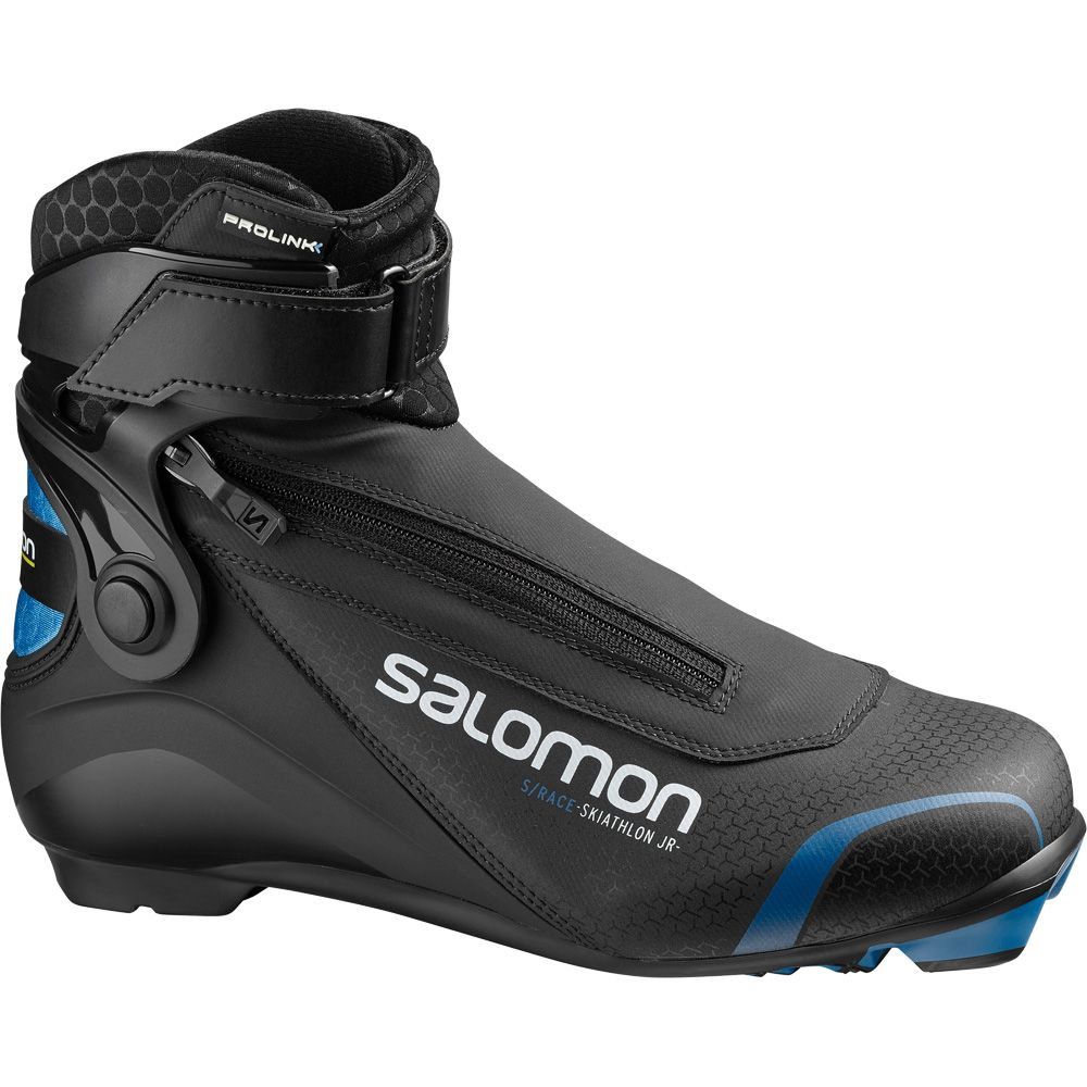 Salomon SRace Skiathlon Prolink Junior Kinder schwarz blau