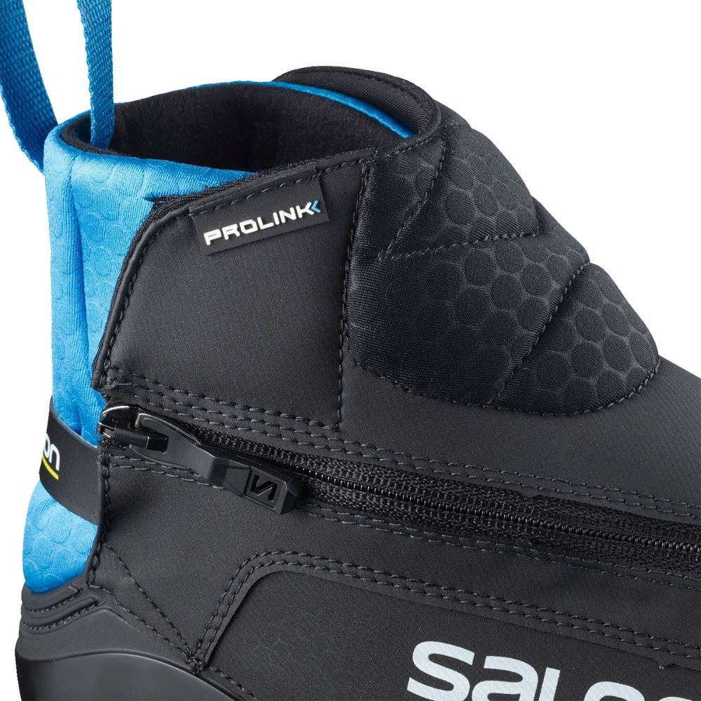 Salomon SRace Classic Prolink Junior Kinder schwarz blau