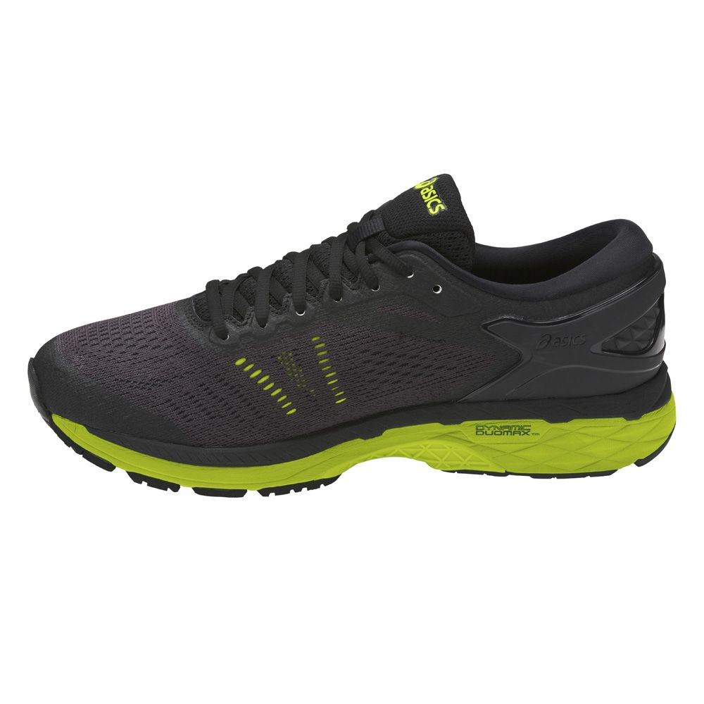 online retailer a0bd8 efd76 ASICS - Gel-Kayano 24 Laufschuhe Men black green at Sport ...