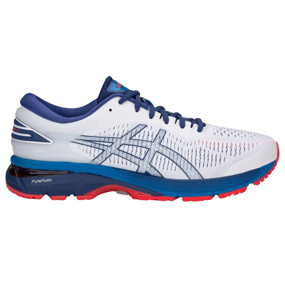 ASICS GEL Kayano 25 running shoes men white blue